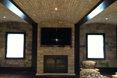 Custom fireplace design Long Island